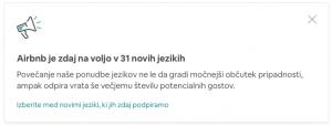 Airbnb v slovenščini